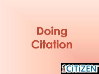 Doing Citation