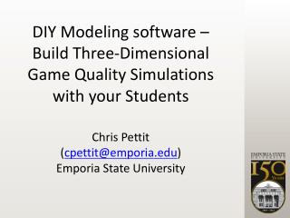 Chris Pettit ( cpettit@emporia ) Emporia State University