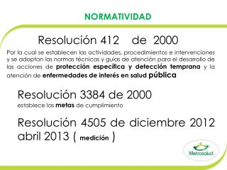 Resolución 412    de   2000