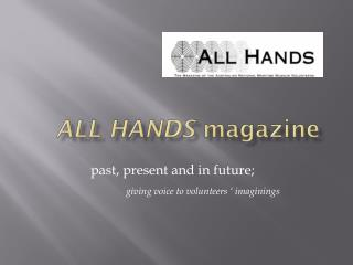 ALl  Hands magazine