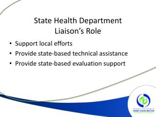 State Health Department  Liaison's Role