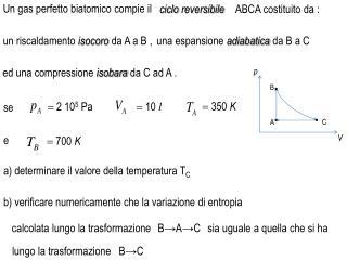 a ) determinare il valore  della temperatura T C