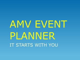 AMV EVENT PLANNER