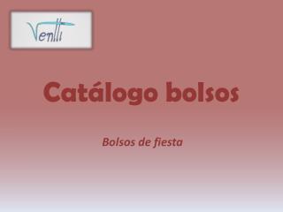 Catálogo  bolsos