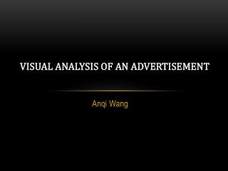 Visual Analysis  of an Advertisement