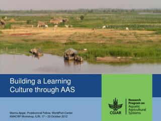 Building a  Learning  Culture through AAS