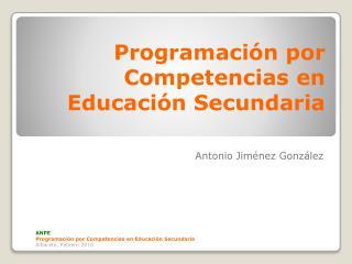 Programación por Competencias  en  Educación Secundaria