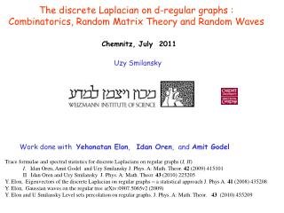 The discrete Laplacian on d-regular graphs : Combinatorics, Random Matrix Theory and Random Waves