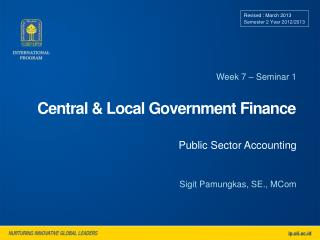 Central & Local Government Finance