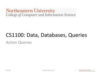 CS1100: Data, Databases, Queries