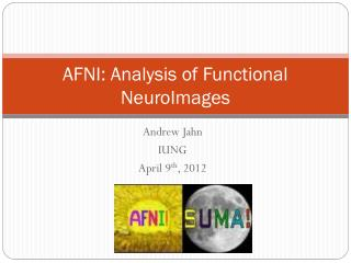 AFNI: Analysis of Functional  NeuroImages