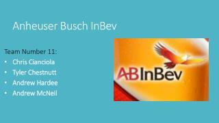 Anheuser Busch  InBev