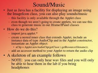 Sound/Music