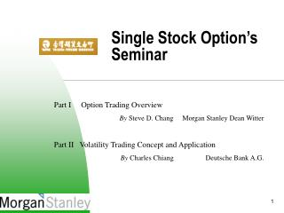 Single Stock Option s Seminar
