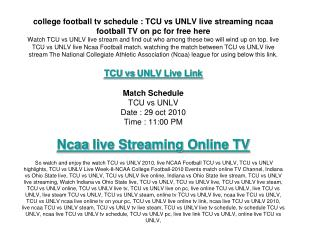 TCU vs UNLV live streaming link here