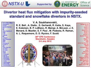 Divertor heat flux mitigation with impurity-seeded standard and snowflake divertors in NSTX .