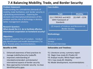7.4 Balancing Mobility, Trade, and Border Security