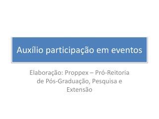Auxílio participação em eventos