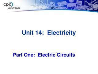 Unit 14:   Electricity
