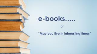 e-books…..