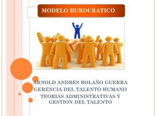 ARNOLD ANDRES BOLAÑO GUERRA  GERENCIA DEL TALENTO HUMANO