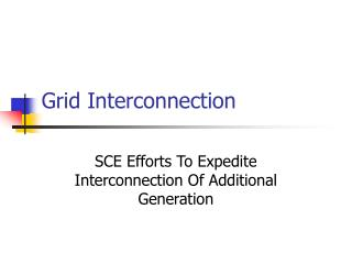 Grid Interconnection