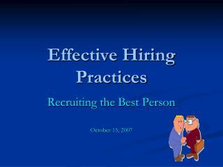 Effective Hiring Practices