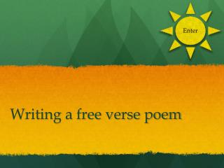 Writing a free verse poem