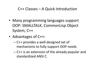 C++ Classes – A Quick Introduction