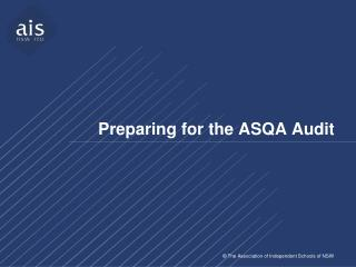 Preparing for the ASQA Audit