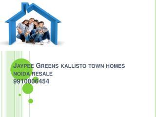 resale jaypee greens kallisto town homes 9910006454