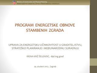 PROGRAM  ENERGETSKE  OBNOVE  STAMBENIH  ZGRADA