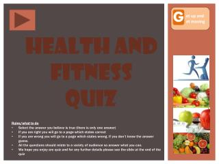 Health and Fitness quiz