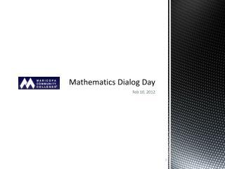 Mathematics Dialog Day