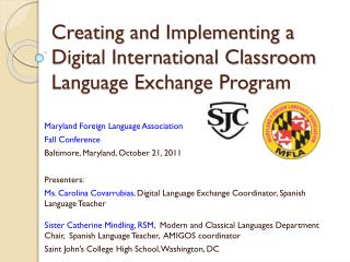 Creating and Implementing a Digital International Classroom Language Exchange Program