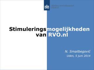Stimulerings mogelijkheden       van  RVO.nl