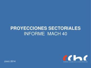 PROYECCIONES SECTORIALES INFORME   MACH 40
