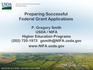 Preparing Successful  Federal Grant  Applications