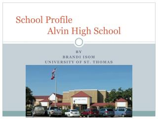 School Profile						Alvin High School