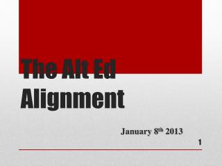 The Alt Ed Alignment