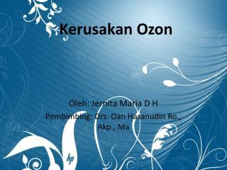 Kerusakan Ozon