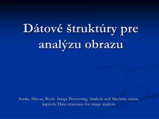 Dátové štruktúry pre analýzu obrazu