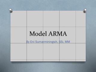 Model ARMA