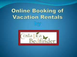 online booking of vacation rentals