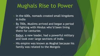 Mughals Rise to Power