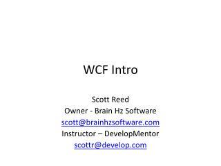 WCF Intro