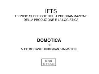 IFTS  TECNICO SUPERIORE DELLA PROGRAMMAZIONE DELLA PRODUZIONE E LA LOGISTICA