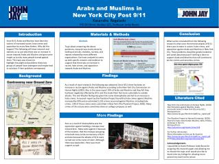 Arabs and Muslims in  New York City Post 9/11