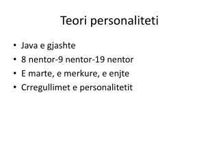 Teori personaliteti