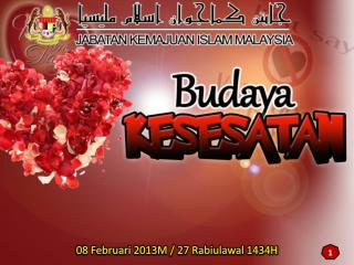 08 Februari 2013M / 27 Rabiulawal 1434H